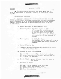 Report of Investigation, 7 March 1950, p1. (National Archives Identifier 595175)